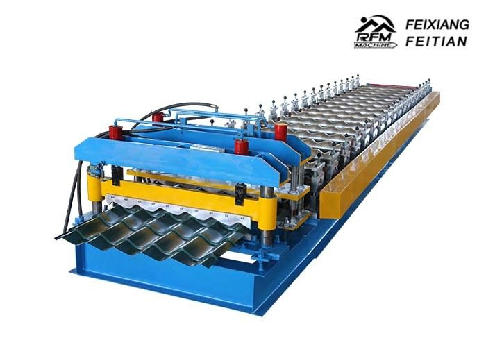 Roofing Corrugated Sheet Roll Forming Machine , FX1004 Wall Panel Roll Forming Machine