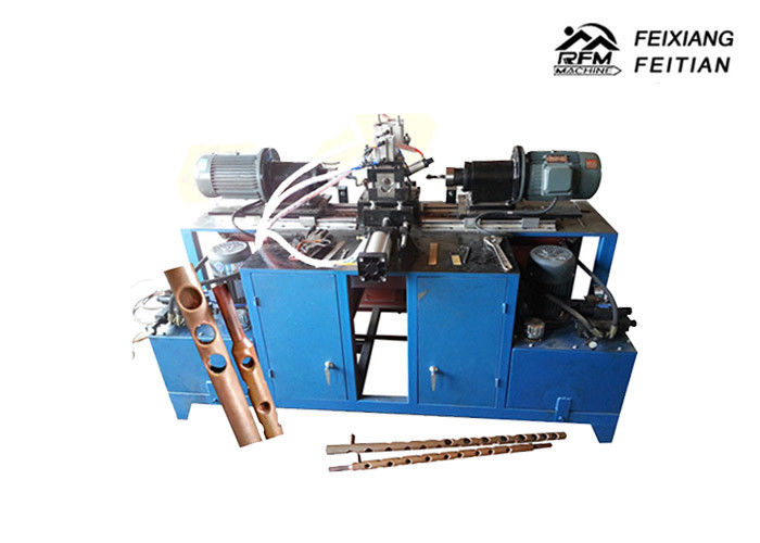 Double Line Round Automatic Punching Machine , Carbon Steel Pipe Punching Machine