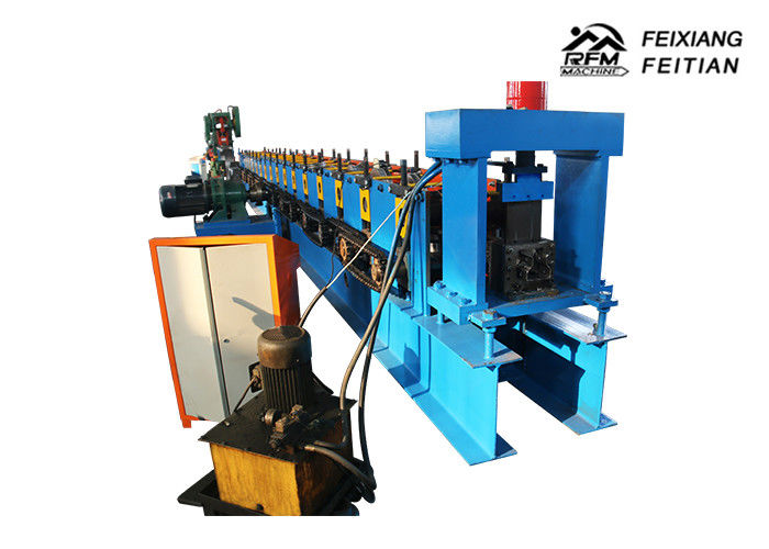 Easy Install Storage Rack Roll Forming Machine , Cable Tray Production Line With Punch