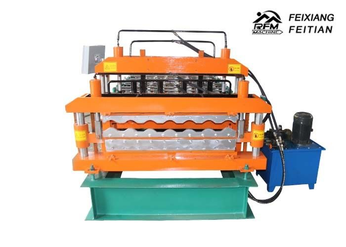 Easy Operate Glazed Tile Roll Forming Machine , Color Steel Roll Forming Machine
